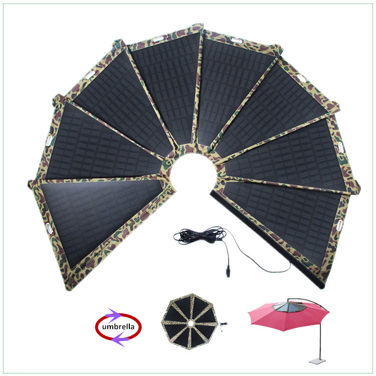60w Umbrella Solar Panel Charger For Outdoor Camping