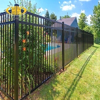 High security wrought iron fence metal fence