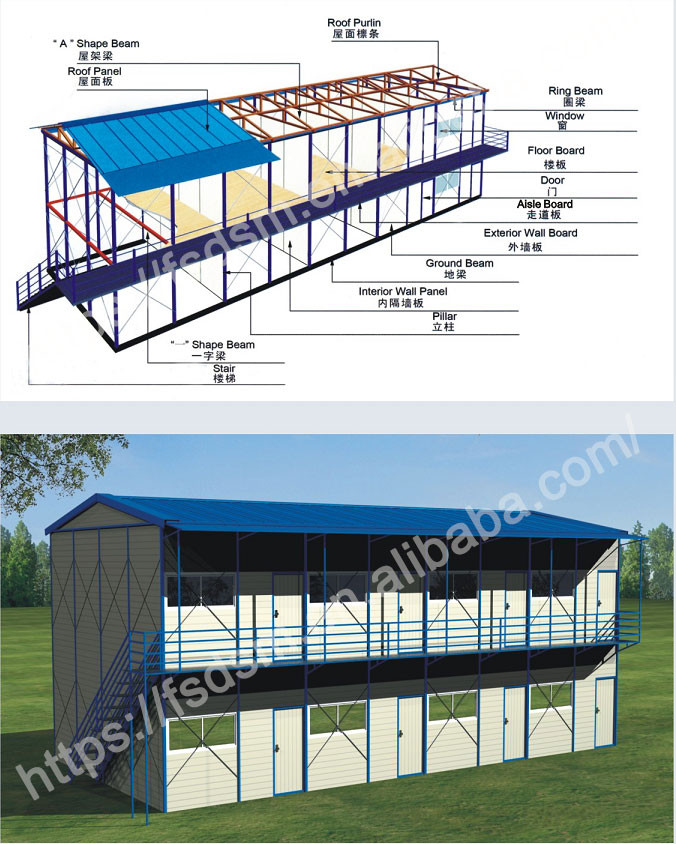 DESUMAN modern design assembly quick prefabricated build houses