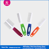 Hot New Products For 2015 Innovation Pet Product Colourful Pet Dog comb Dog Grooming Comb