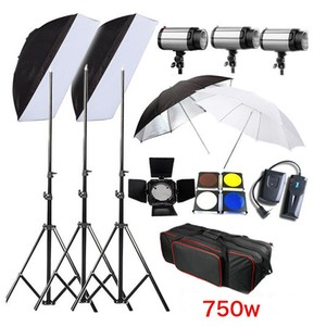 Godox 3 x 250Ws 250DI Studio Photography Strobe Photo Flash Light with Softbox Umbrella Carry Bag Kit