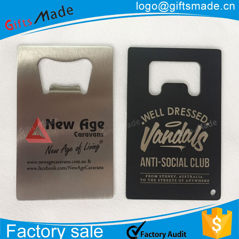 Personalized metal Bottle Opener Card For Wedding Party bottle opener business card