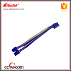 100pcs PCI-E PCIe PCI Express 8Pin Female to Dual Double 6Pin Male Adapter GPU Video Card Power Cable 18AWG 20cm