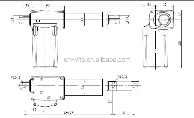 dc waterproof 12 u0026 39  u0026 39   24 u0026 39  u0026 39   36 u0026 39  u0026 39  stroke linear actuators with