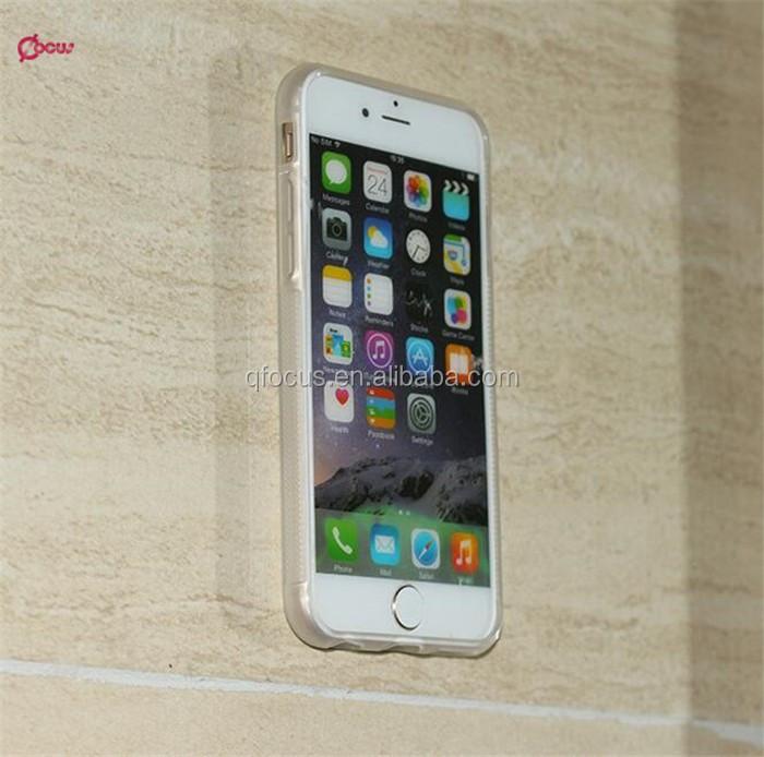 076919dcb1b Para iPhone 7 transparente claro teléfono celular caso contra la gravedad  de la cubierta del teléfono