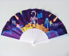 21cm High Quality Hand Held Plastic Printed Custom Design Wedding Folding Hand Fan