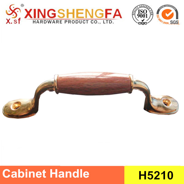 Wood grain handle zinc alloy handle for cabinet