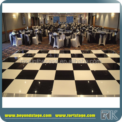Heavy loading cheap dance floor event flooring with edge