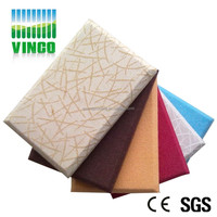 Sound absorbing Material Acoustic Fabric Wall Panel for Disco KTV
