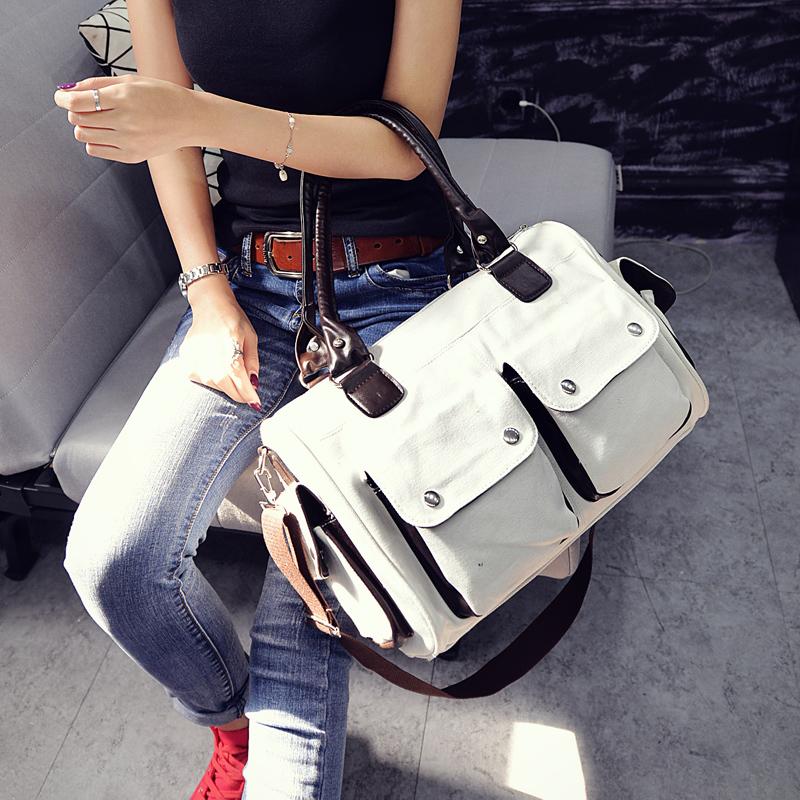 Latest college girls student hanging shoulder long strip handbags messenger bags
