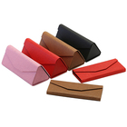 High quality colorful fashion pu leather sunglass bag pouch