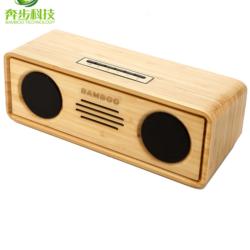 2017 bambu klasik uniqute hadiah mini portabel rechargeable bluetooth speaker