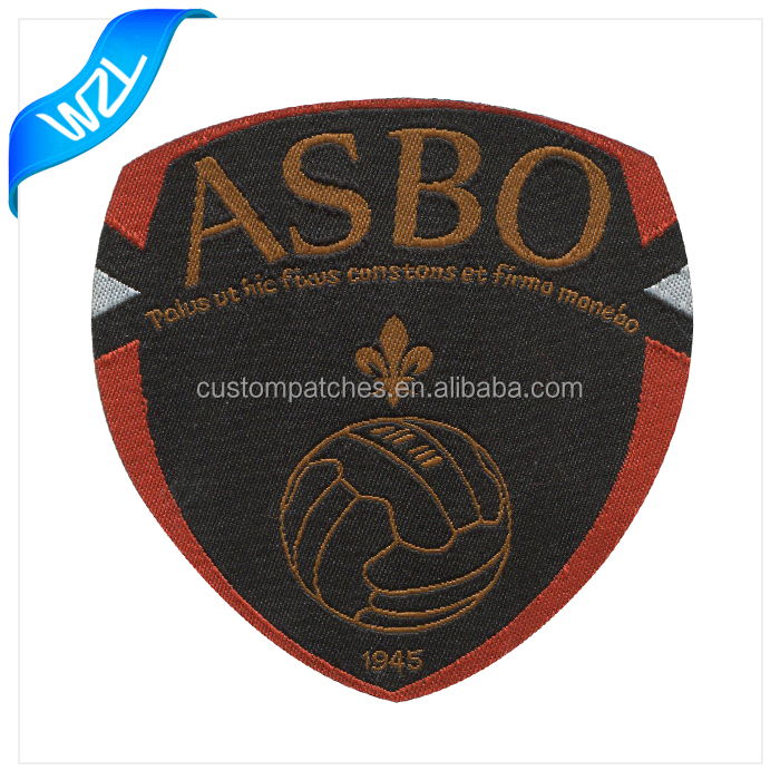 Custom Logo football embroidered patch woven badges