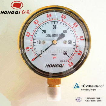 "YE63 2,5"" low capsule pressure gauge manometer"