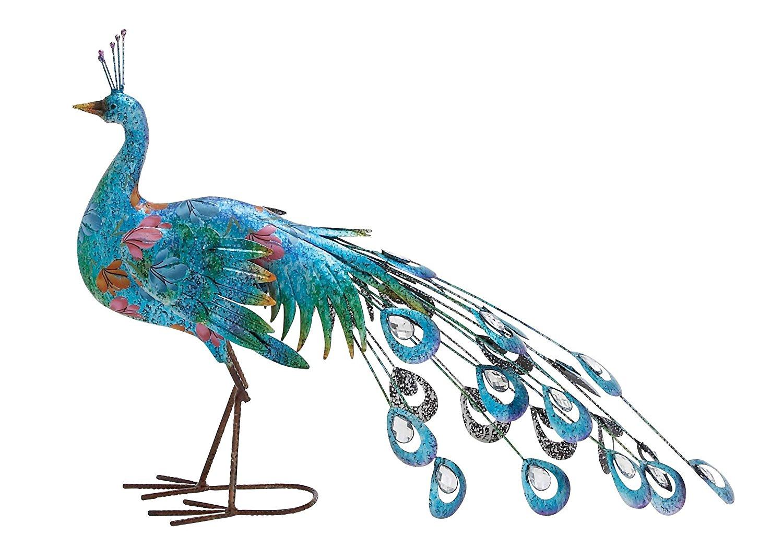 Attirant Deco 79 Metal Peacock Sculpture, ...