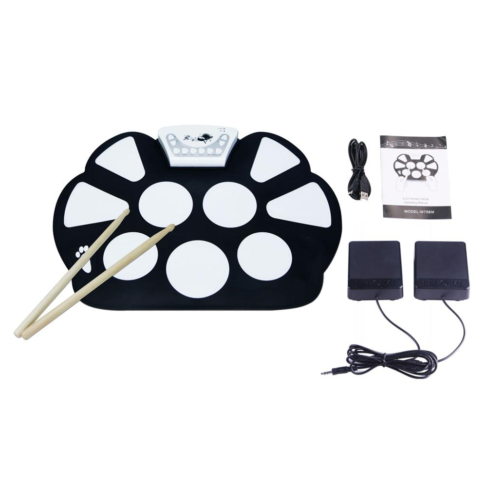 Tragbares elektronisches USB-Rollup-Drum-Pad-Kit