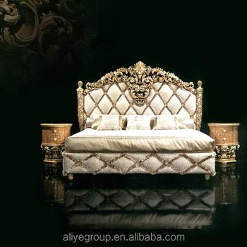 GDM2-001-Luxury furniture Royal furniture antique gold bedroom sets ...