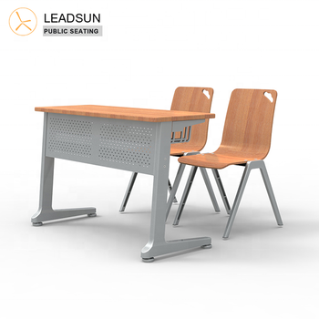 School Chairs desk manufacturers study chair student attached guangzhou Sets desks and chair standard classroom desk  Metal