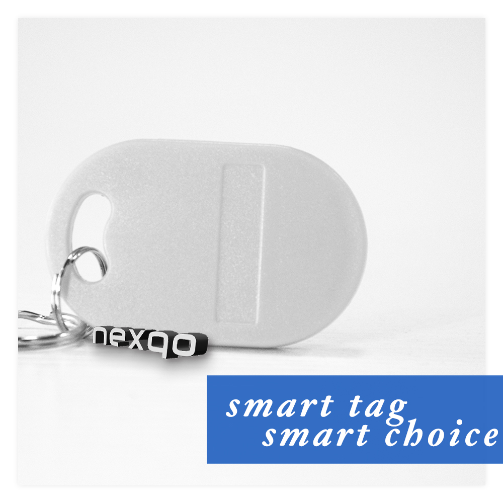 ABS RFID T5577 contactless key fob key tag key chain for access control