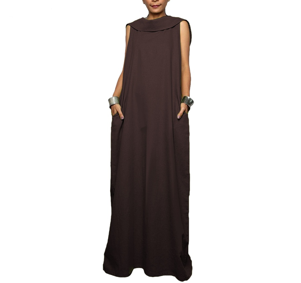 Plus Size Dresses Casual Sleeveless Floor-length Maxi Long ...