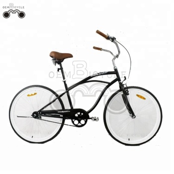 low moq 26inch Men black Beach Cruiser Bike
