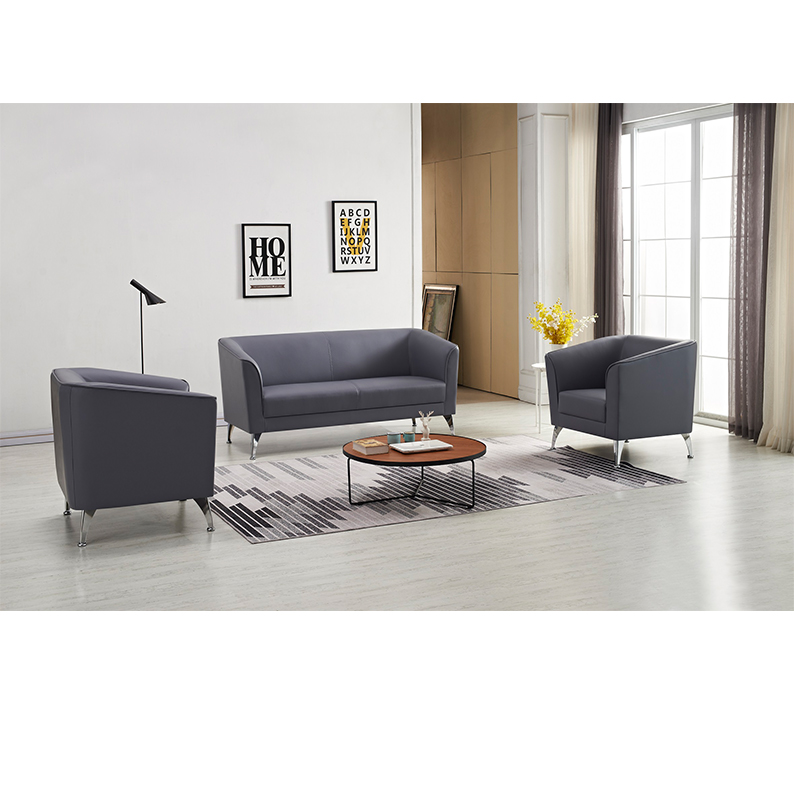 Commercial Furniture General Use and Synthetic Leather Material office sofa sets W8600