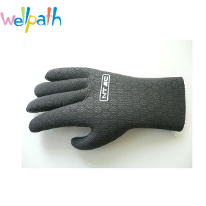 Top quality 3mm soft Black Watersports Neoprene Diving Gloves