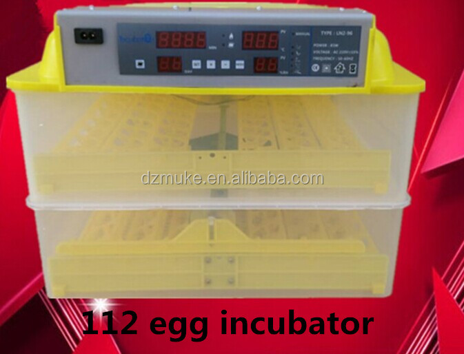 High hatching rate 112 egg incubator /hatchery machine for sale