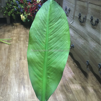 Silk Tree Leaves Fake Jungle Artificial Leaf Decorative Banana Bulk Flower