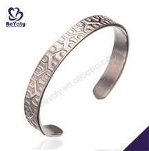 wholesale mens stainless steel custom arm cuff bracelet bangle