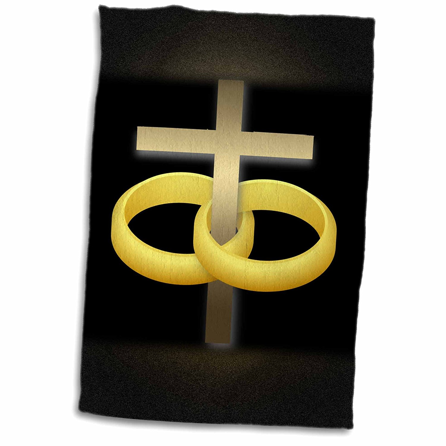 3drose 777images Designs Christian Marriage Or Anniversary Cross With Two Gold Wedding Rings Around A: Cross Backround Wedding Bands At Websimilar.org