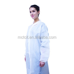 Cheap disposable plastic cool lab coat/acid resistant water proof lab coat