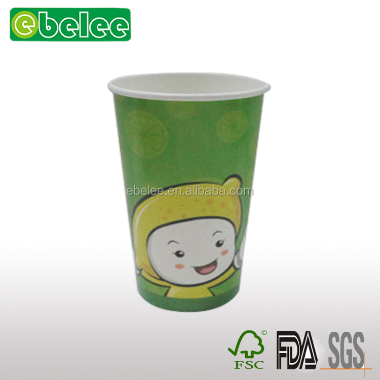 Disposable cartoon paper cups with logo