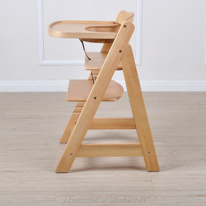 Wooden Stool Infant Feeding Children Toddler Restaurant Baby High Chair