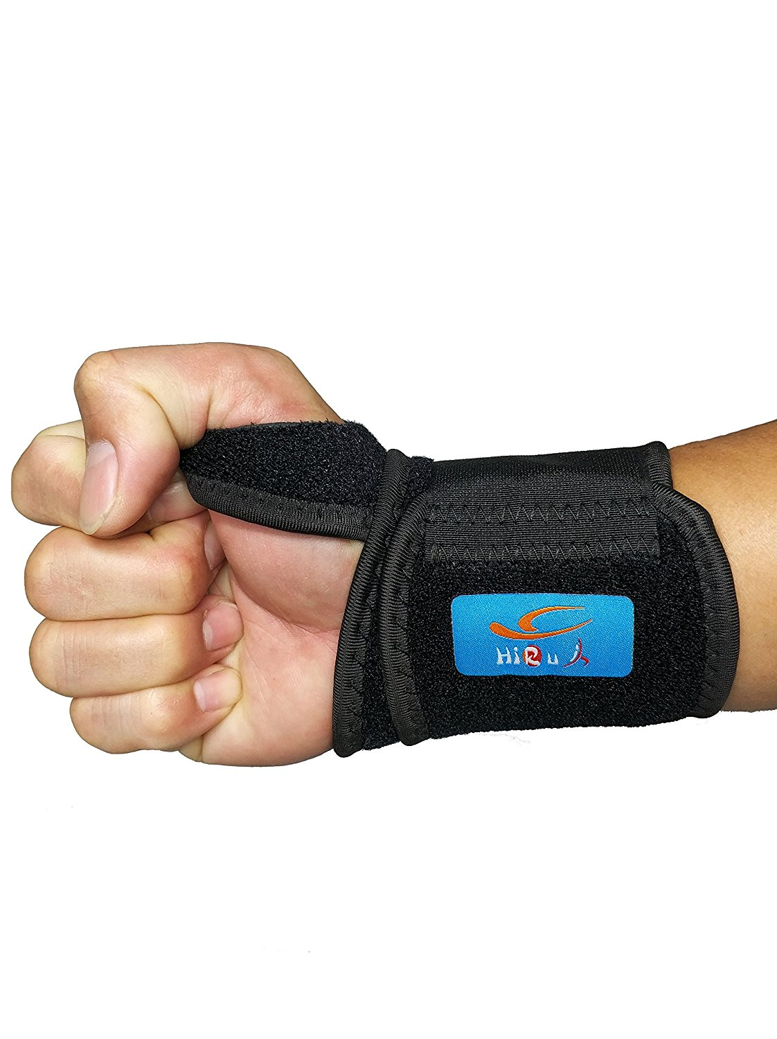 Wear Anywhere Unisex HiRui 2 Pack Wrist Compression Strap and Wrist Brace Sport Wrist Support for Fitness Adjustable Tendonitis Pain Relief Carpal Tunnel Arthritis Weightlifting