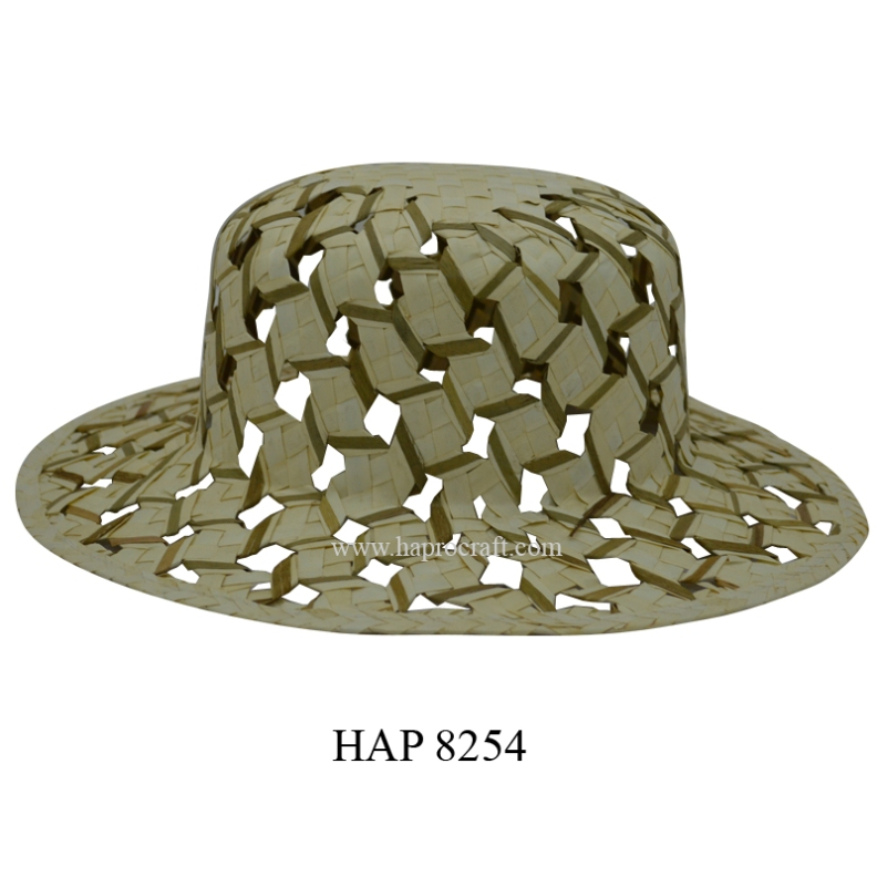 Straw hats for women / Ladies fashion hats / Palm leaf hats in Vietnam (HAP 8254)