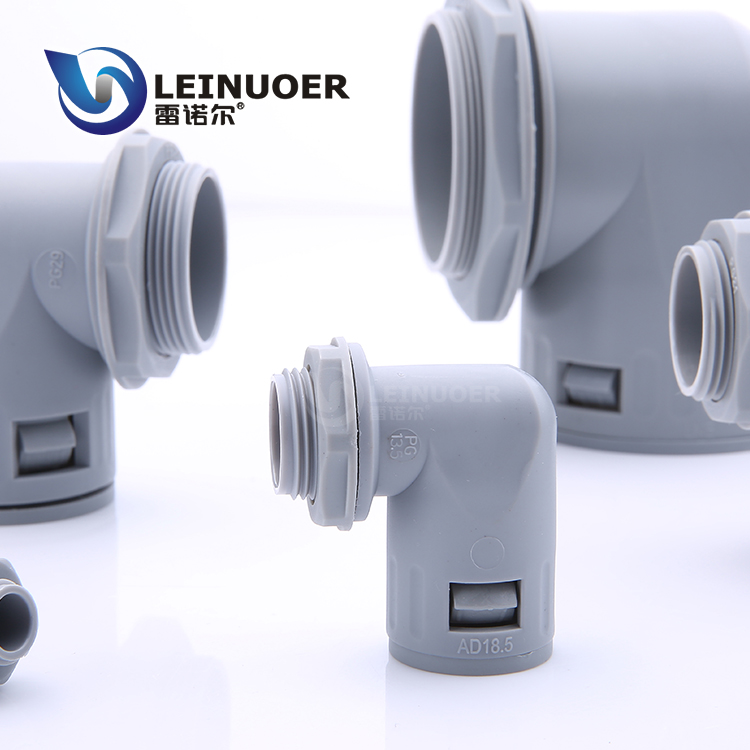 angle rj90 nylon hose connector for plastic flexible pipe