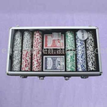 Dadi Bordo Chip Set, poker chip set, casino chip set, gioco d'azzardo chip set con il caso di alluminio