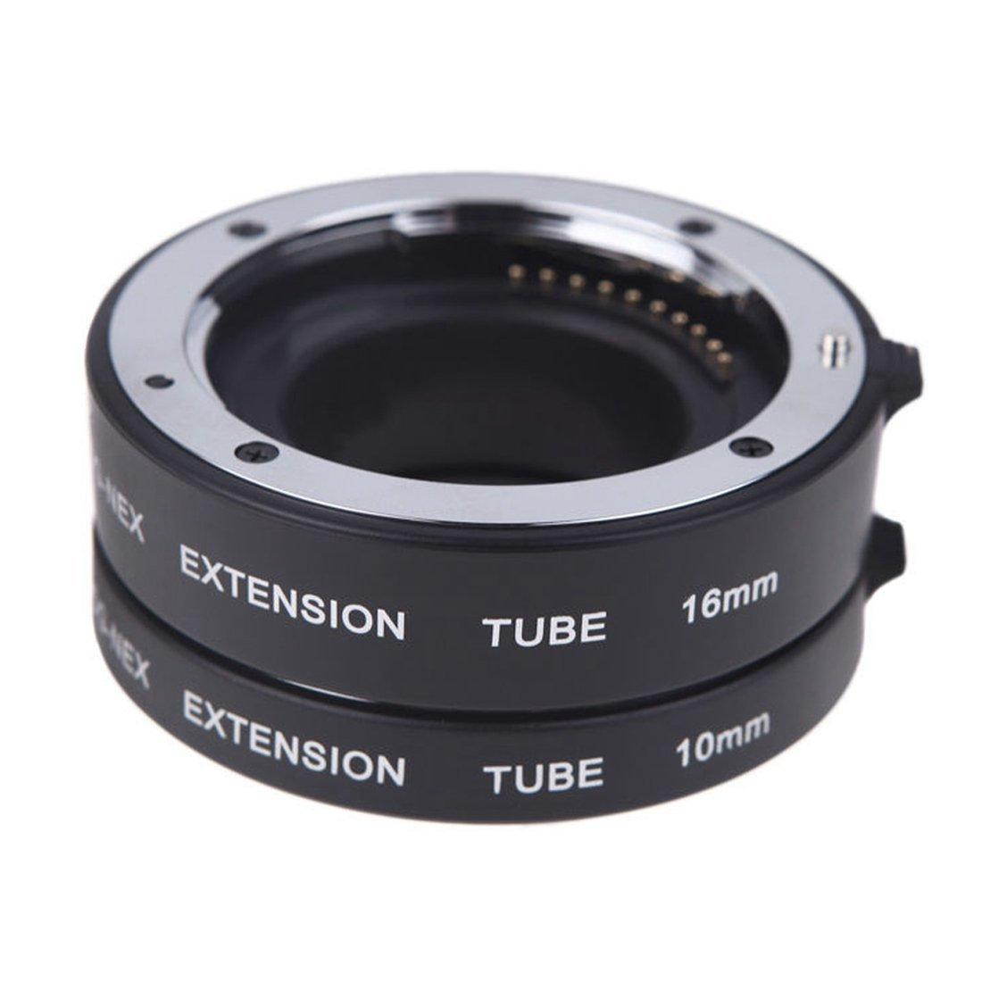 Extension Tube Set - SODIAL(R)Macro Auto Focus Extension DG Tube Set Ring Metal Mount for Sony E-mout NEX