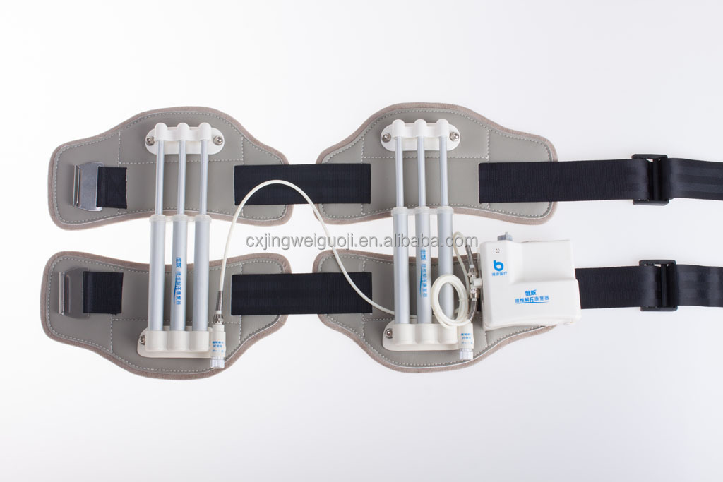 Portable hydraulic pressure lumbar traction with rachioscoliosis
