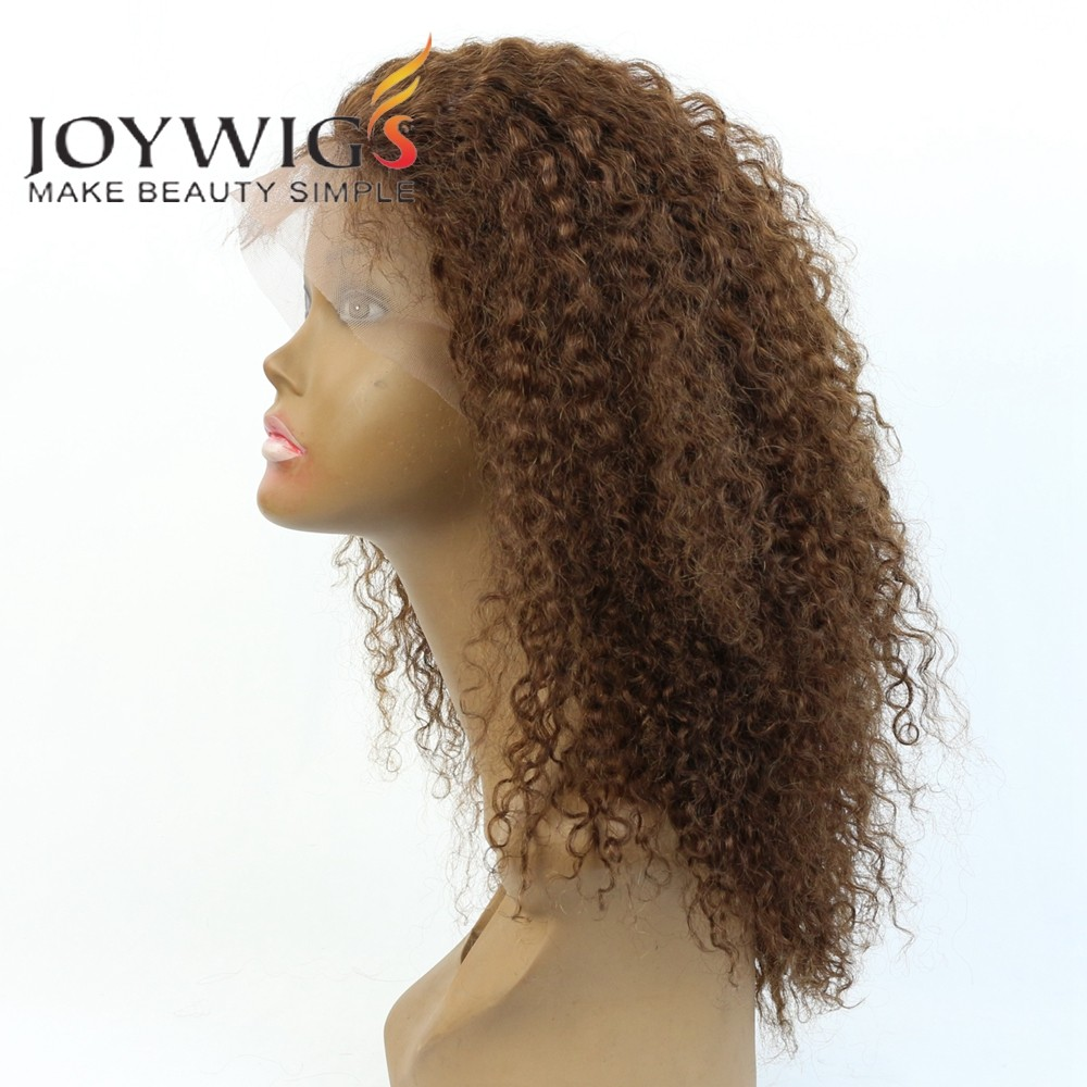 "2016 100 Human Hair Wigs For African Americans 12"" #4 Instock Lace Front Wig"