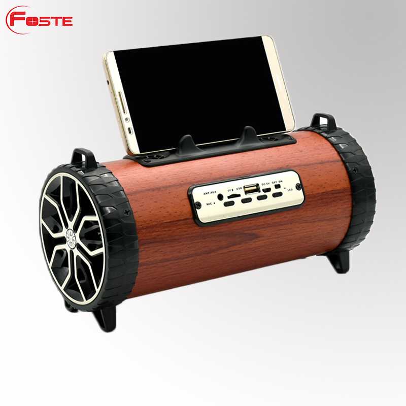 Professional Mini Wood Portable Wireless Active Loud Radio Fm Usb Speaker Bluetooth Speaker Wooden With Stands!