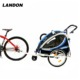 Baby Trailer for two kids bicycle child new type 3 wheel bicycle with adjustable bar folding bicycle