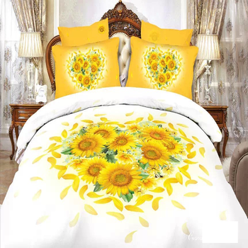 3D Printing Yellow Flower Spa Bed Sheets