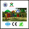 High quality wooden playground equipment wooden playsets wooden outdoor playsets made in china QX-11054A