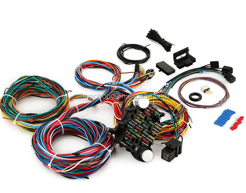 gm ford fuse box and wiring harness universal 21 20 circuit hotrod  gm ford fuse box and wiring harness universal 21 20 circuit hotrod loom mini panel with