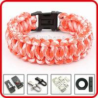 wholesale religious 550 paracord survival rope bracelets bangles
