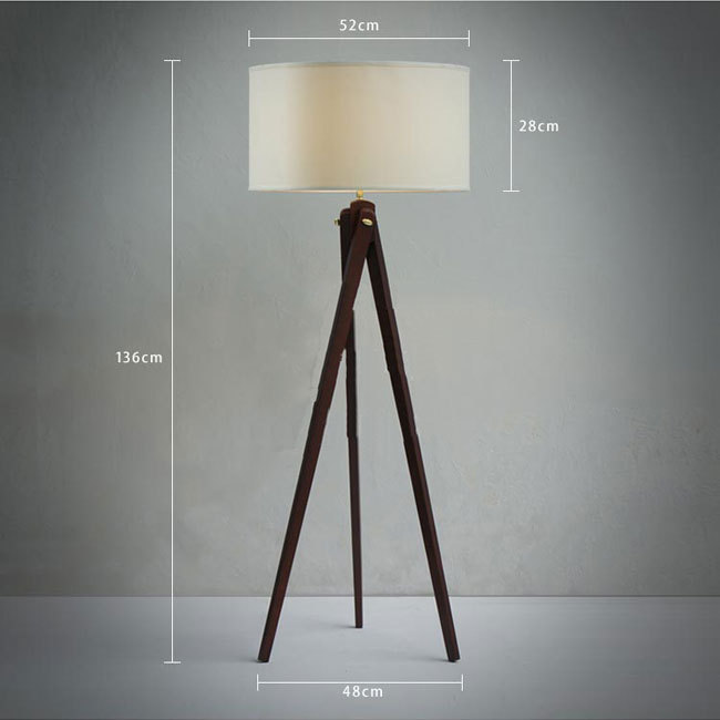 Natural wood handmade modern tripod wooden floor lamp with cloth natural wood handmade modern tripod wooden floor lamp with cloth shade mozeypictures Image collections