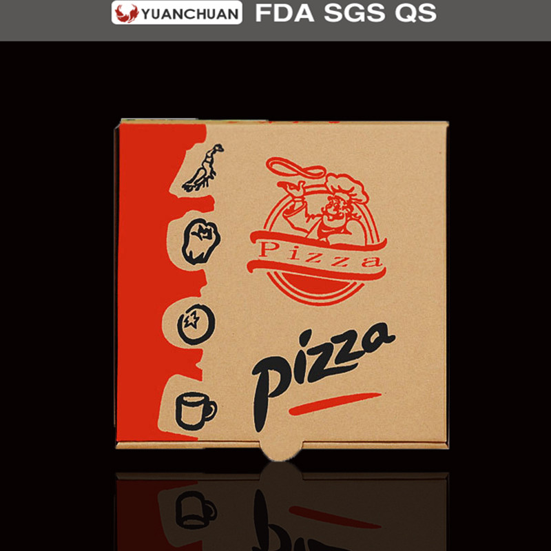 Corrugated paper packaging pizza carton