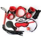 Wholesale 8PCS SM whip cosplay PVC leather multi products sexual bondage kit